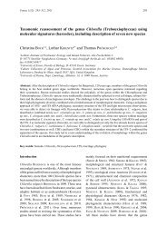 Taxonomic reassessment of the genus Chlorella ... - Fottea