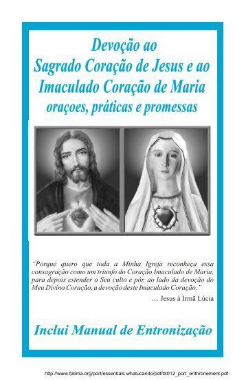 Devoção ao Segrado Coração de Jesus e ao Imaculado Coração ...