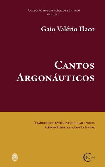 Gaio Valério Flaco. Cantos Argonáuticos - Universidade de Coimbra