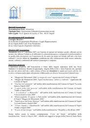 Associazione Culturale di promozione sociale Sede ... - Artemision