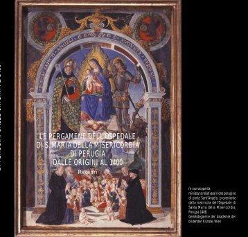 Le pergamene dell'Ospedale di S. Maria della Misericordia di ...