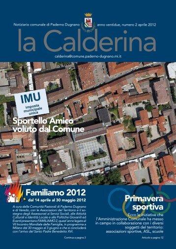 Familiamo 2012 Primavera sportiva Sportello Amico voluto dal ...