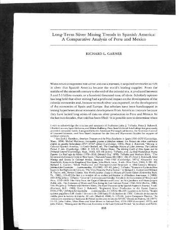 Long-Term Silver Mining Trends in Spanish America - Inside My Desk
