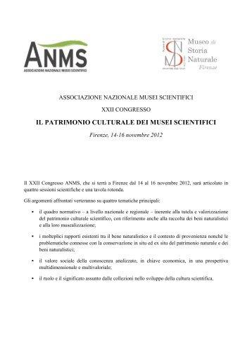 Congresso ANMS - Museo di Storia Naturale - Università degli Studi ...