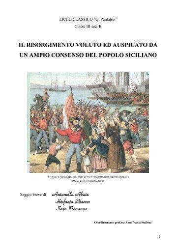 """""""Il Risorgimento voluto ed auspicato da un ampio ... - Liceo magistrale"""