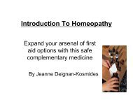 First Aid Homeopathy