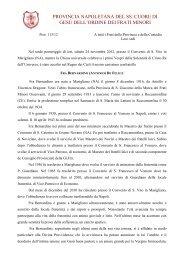provincia napoletana del ss. cuore di gesú dell'ordine ... - Ofmna.org