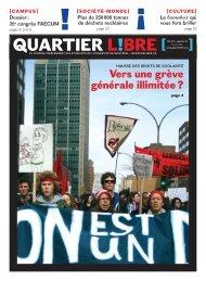 Numéro 15 Vers une grève générale illimitée - Quartier Libre
