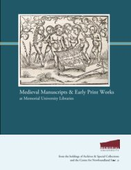 Medieval Manuscripts & Early Print Works at Memorial ... - Libraries