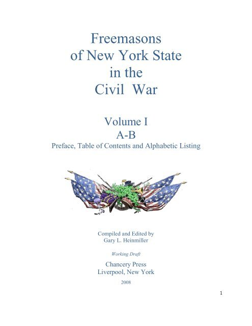 Freemasons Of New York State In The Civil War Onondaga And
