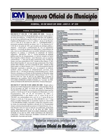IMPRESSO nº 229 - Sobral
