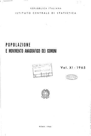 popolazione e movimento anagrafico dei comuni - Istat
