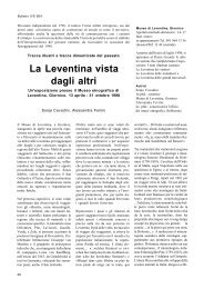 vie storiche e Leventina, in Bulletin IVS 95/1.