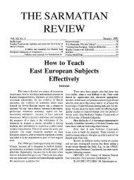 the sarmatian review the sarmatian review - Rice University's digital ...