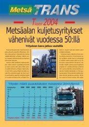 Metsäalan kuljetusyritykset vähenivät vuodessa 50:llä - Metsätrans