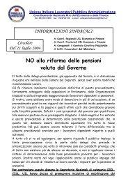 NO alla riforma delle pensioni voluta dal Governo - Uil
