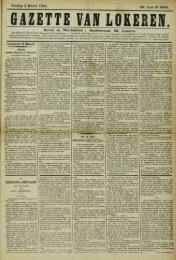 Zondag 3 Maart 1901. 58° Jaar N° 2954. Bureel en Werkhuizen ...
