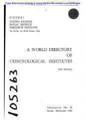 a world directory criminological institutes - National Criminal Justice ...