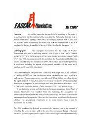 EASCM Newsletter 2 - Zentrum für Ostasienwissenschaften