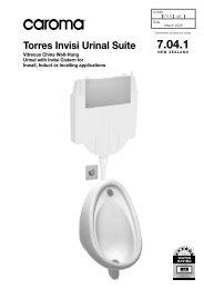 Torres Invisi Urinal Suite - Caroma