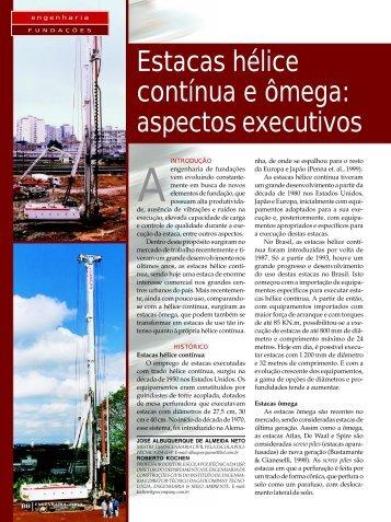 Fundações em Estacas Hélice Contínua e Ômega - GeoCompany