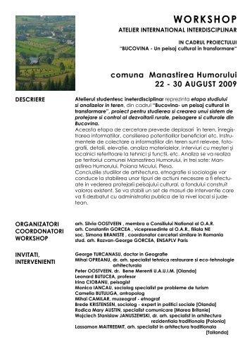 BUCOVINA - Un peisaj cultural in transformare - alexandru senciuc