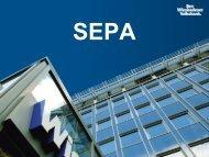 SEPA für Vereine - Vortragsunterlagen von Hartmut Schork