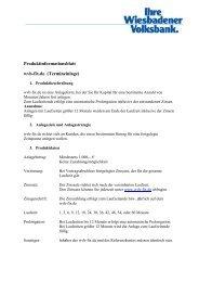 Produktinformationen - Wiesbadener Volksbank eG
