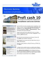 Installationsanleitung Profi cash 10