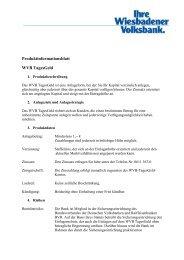Produktinformation WVB TagesGeld - Wiesbadener Volksbank eG