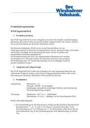 Produktinformation WVB TagesGeld DAX - Wiesbadener Volksbank ...