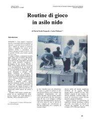 Routine di gioco in asilo nido - Città di Torino