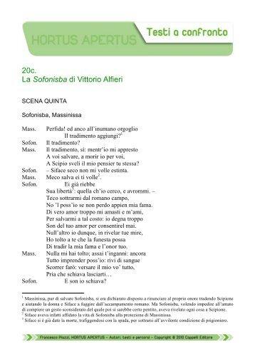 20c. La Sofonisba di Vittorio Alfieri - Edu.lascuola.it