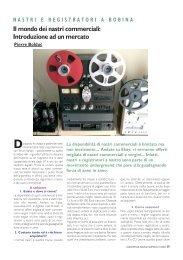 Il mondo dei nastri commerciali: Introduzione ad ... - Audiophile Sound