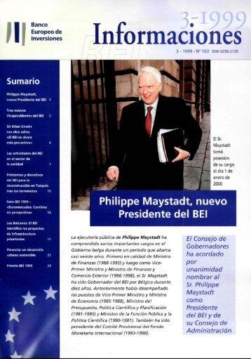 BEI Informaciones 3-1999 (n°103) - European Investment Bank