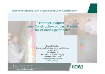 Lean Construction og Last Planner fra et dansk perspektiv - Fafo