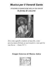 Programma Venerdi Santo - Gruppo Genovese di Musica Antica
