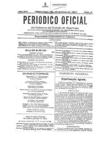 Ley Orgánica de División Territorial del Estado - Estado de Guerrero