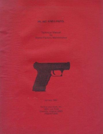 Heckler & Koch P7M13 Technical Manual for Dealer ... - GunFAQs.org