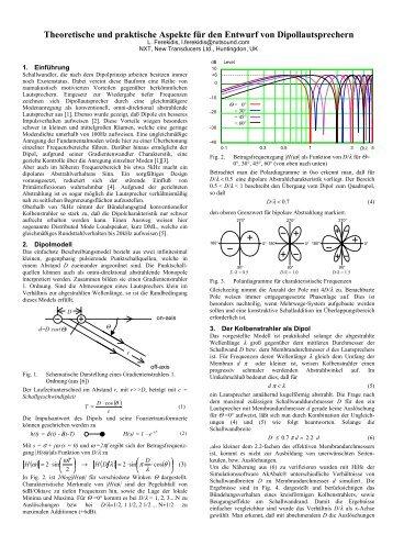 Theoretische und praktische Aspekte für den Entwurf von ... - W Vier