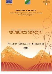 Relazione Annuale di Esecuzione 2011 - Regione Abruzzo