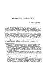 Petrarquismo y emblemática - RUC