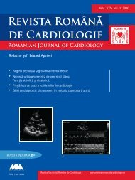 Nr. 1, 2010 - Romanian Journal of Cardiology