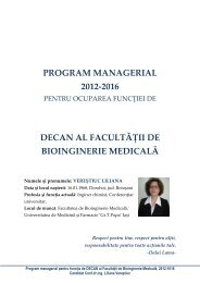 Program managerial Liliana Verestiuc - Gr.T. Popa