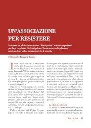 UN'ASSOCIAZIONE PER RESISTERE - Volontariato Lazio