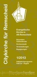 Citykirchenprogramm Februar bis August 2013 - der Evangelischen ...