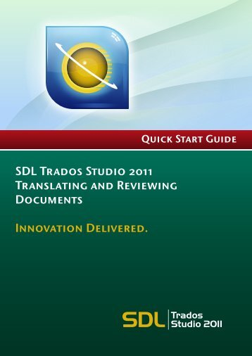 SDL Trados Studio 2011 SP2 Translating and Reviewing ...