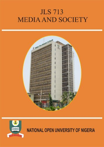 Media and Society - National Open University of Nigeria