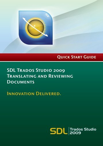 SDL Trados Studio Translating and Reviewing ... - Translationzone