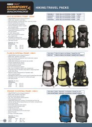 HIKING/TRAVEL PACKS - obus forme backpacks